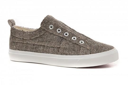 Brown Tweed Slip on Sneaker