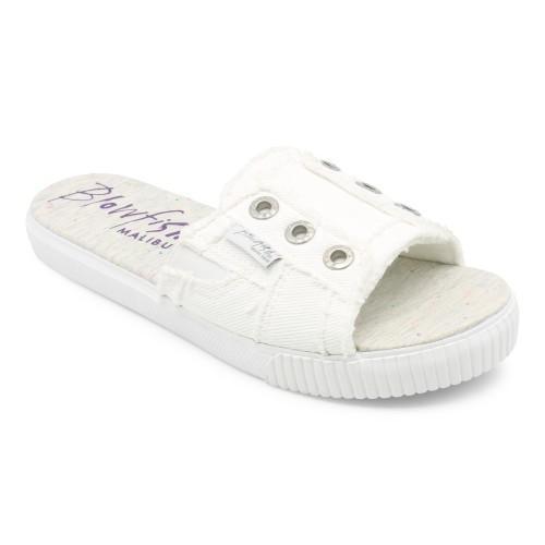 White Slide On Sandal