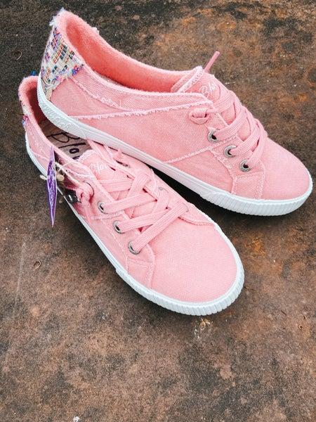 Light Pink Sneaker w/ Side Zipper