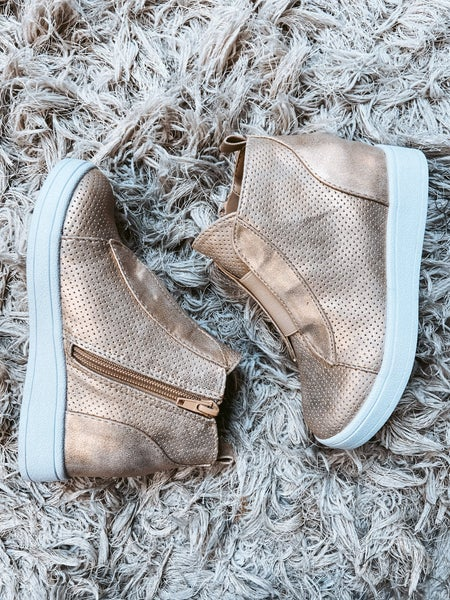 Kids Metallic Wedge Shoe