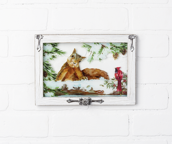 Window Plaque with Squirrel