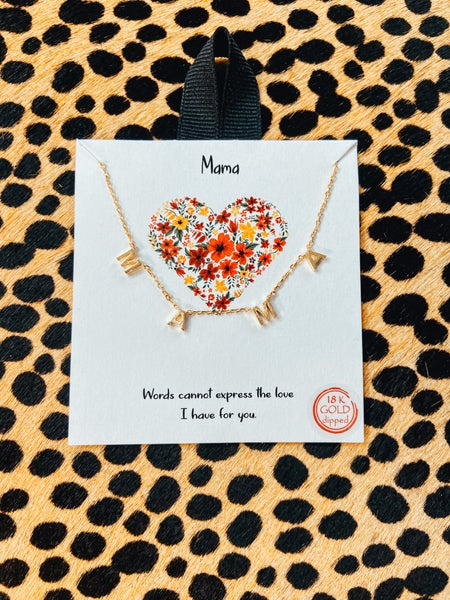 Mama Necklace on Card