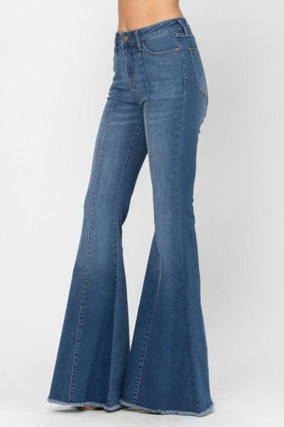 High Rise Front & Back Mid Seam Flares