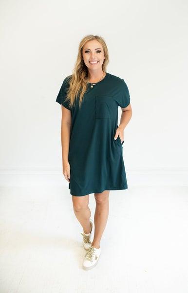 Dark Teal T-Shirt Dress