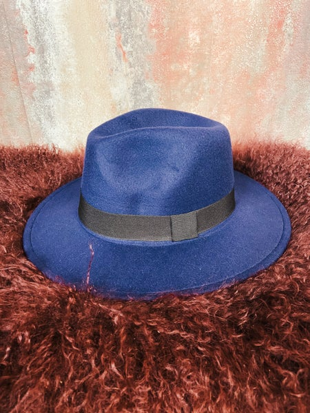 Navy Rancher Felt Hat