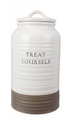 Ceramic 'Treat Yourself' Cookie Jar