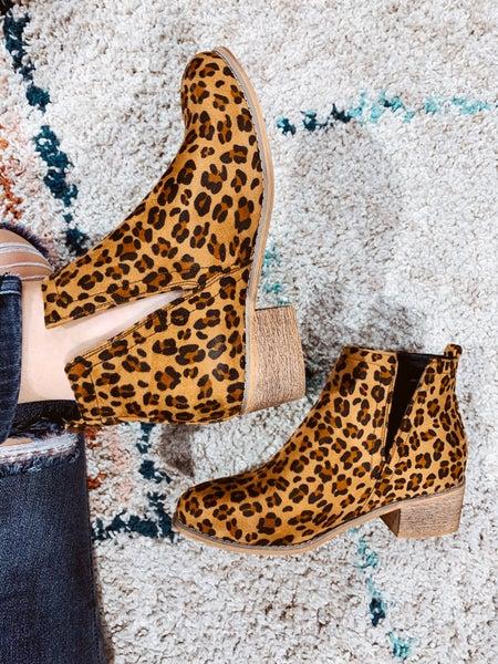 Leopard Short Bootie