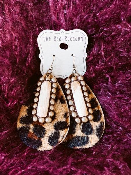 Clay on Cheetah Earring
