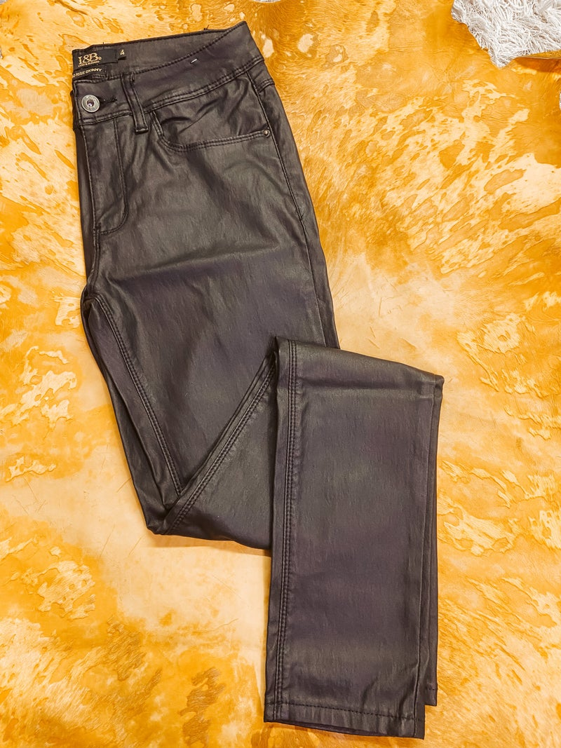 Faux Leather High Rise Skinnies
