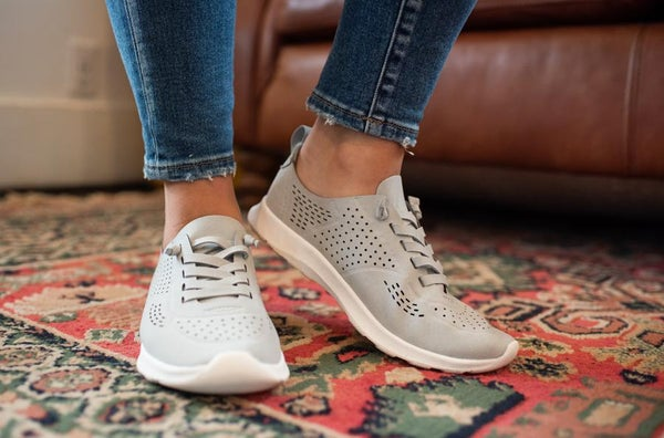 Gray Perforated Sneaker