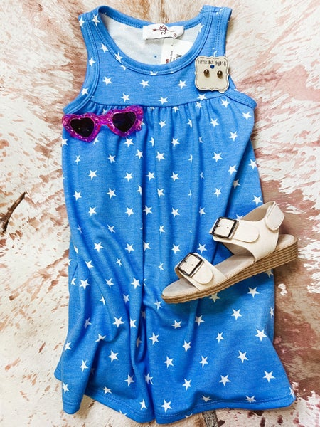 Blue Star Sleeveless Dress
