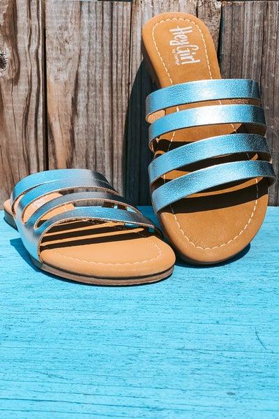 Silver Splice Sandal