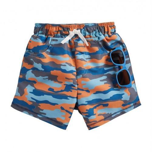 Camo Swim Trunks w/ Sunglasses
