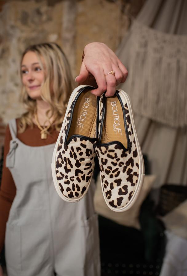 Snow Leopard Slip on Shoe