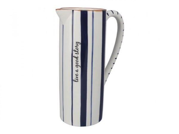 Large Blue & White Pitcher