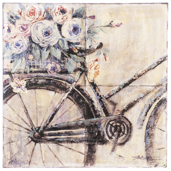 Tile Bike Wall Decor