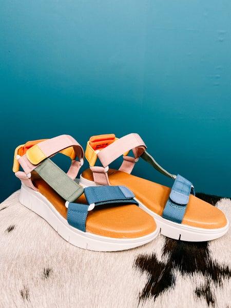 Multi Color Platform Sandal