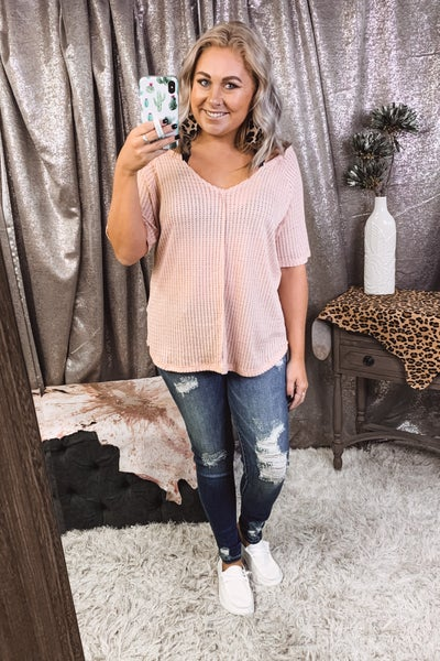 Light Pink Top w/ Contrasting Detail
