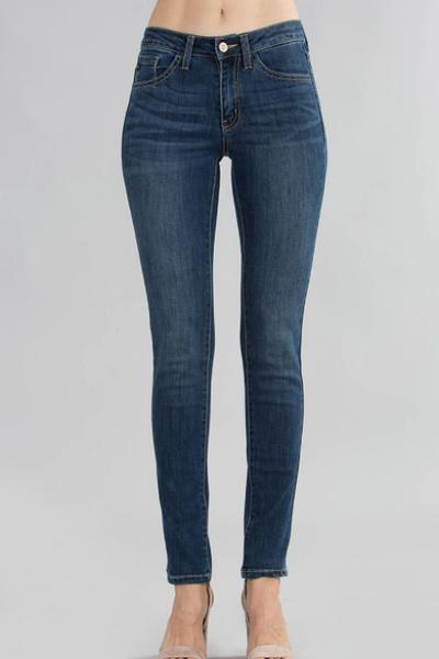 Super Skinny Mid Rise Jeans