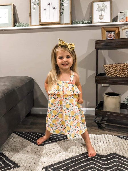 Lemon Floral Dress Set
