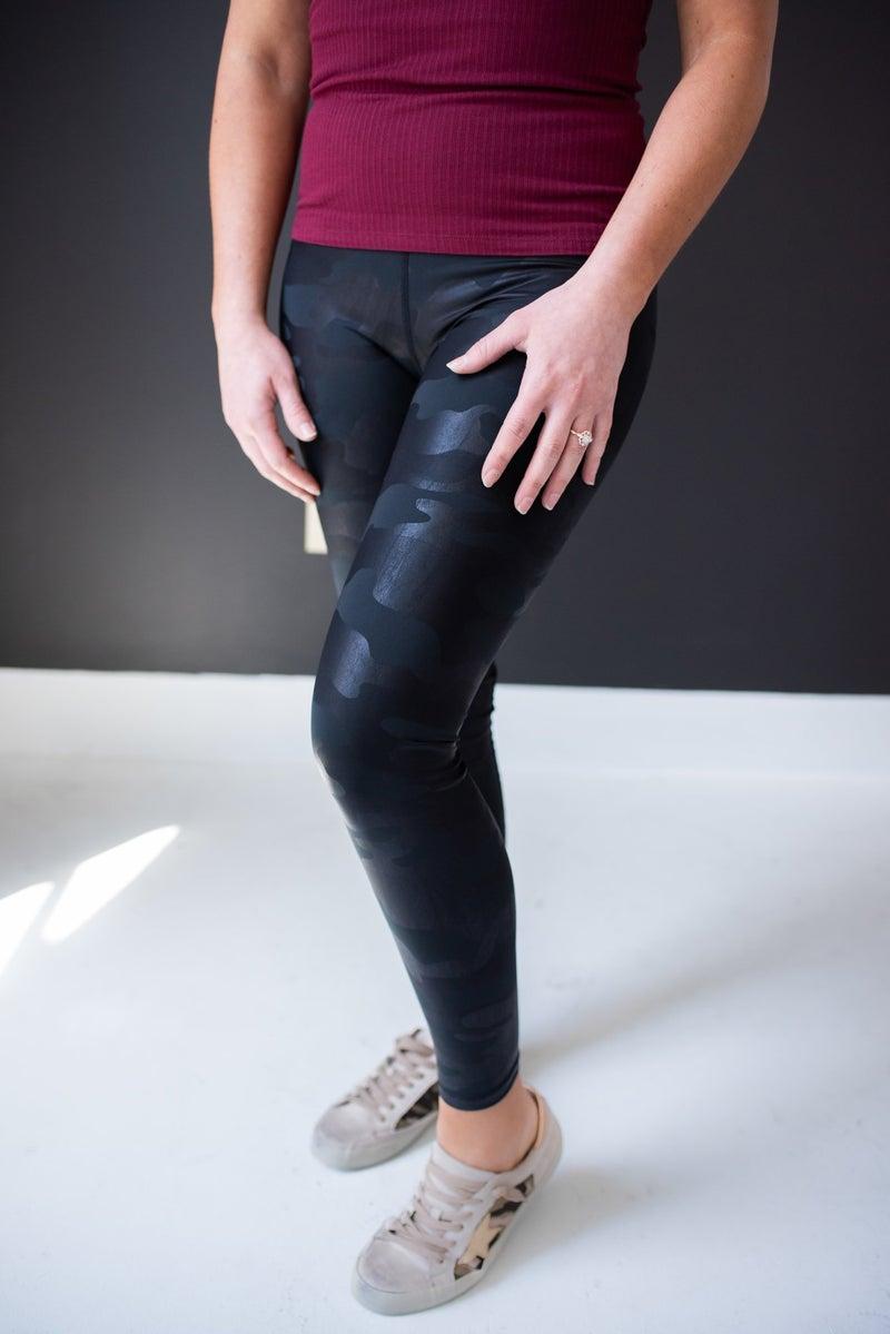 Black Camo Legging