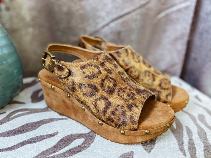 Platform Wedge - Leopard