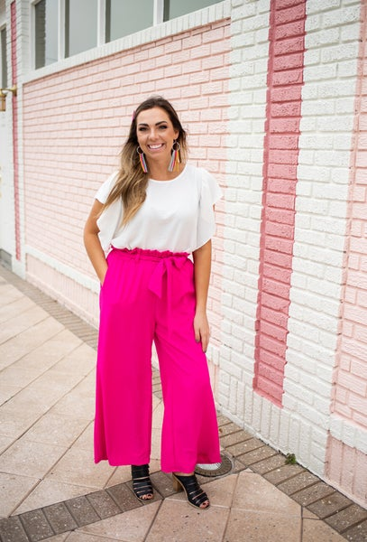 Hot Pink Paperbag Trousers