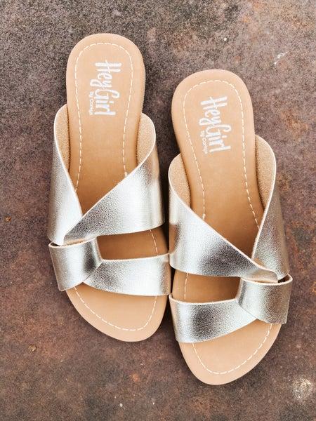 Gold Twist Sandal