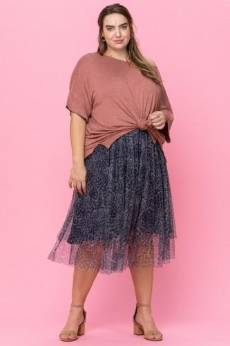Leopard Mesh Ballerina Inspired Skirt
