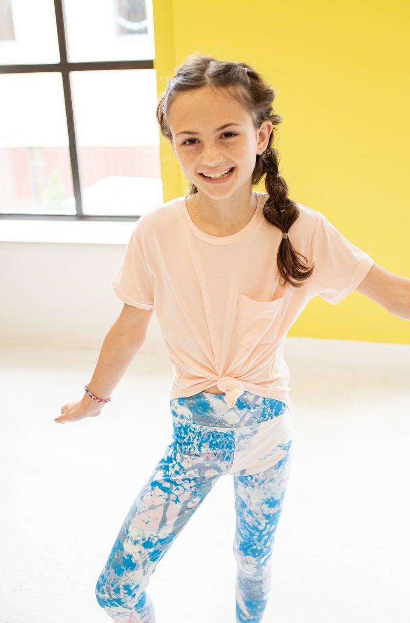 Blue Tie Dye Child Leggings