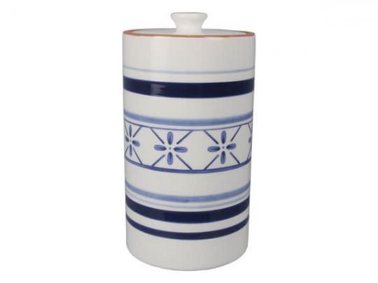 Blue & White Ceramic Cookie Jar
