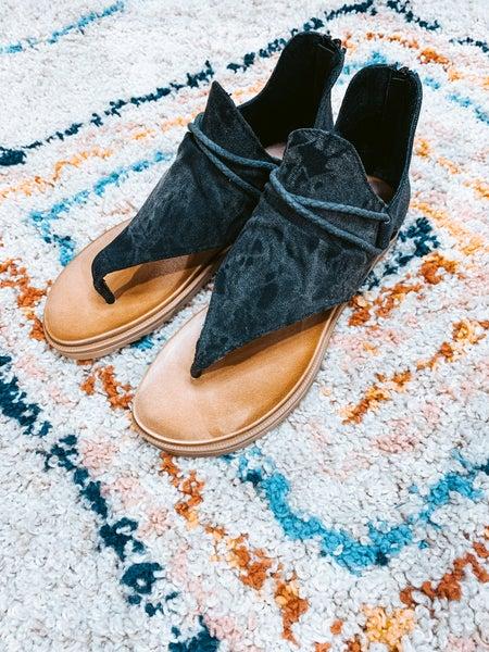 Leopard & Metallic Flat Sandal