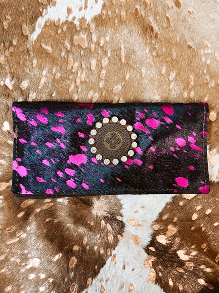Upcycled Pink Wallet