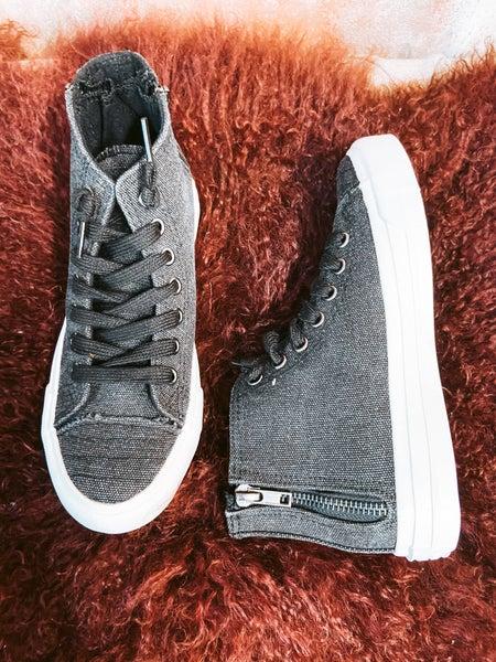 Black Grungy Shoe