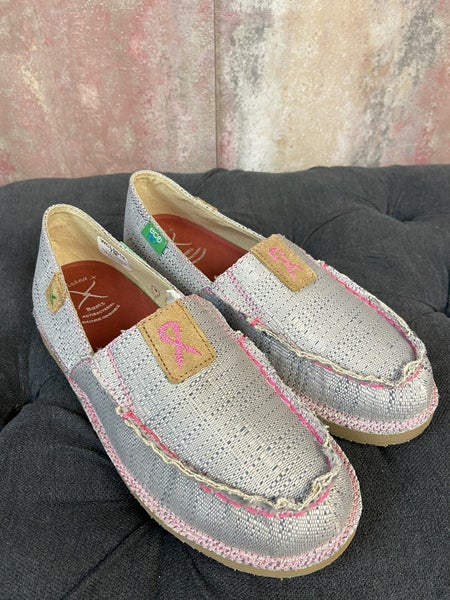 Pink & Gray Slip Ons WCL0012
