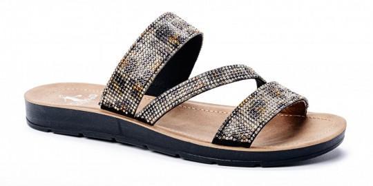 Triple Strap Cheetah Sandal