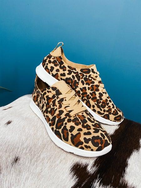 Faux Suede Leopard Shoe