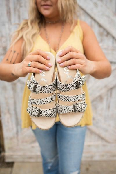 Hair On Small Cheetah w/ Jute Detail Sandal