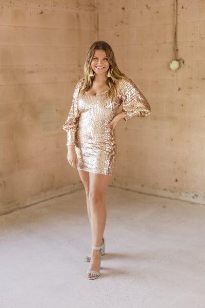 Rose Gold Beaded Dress