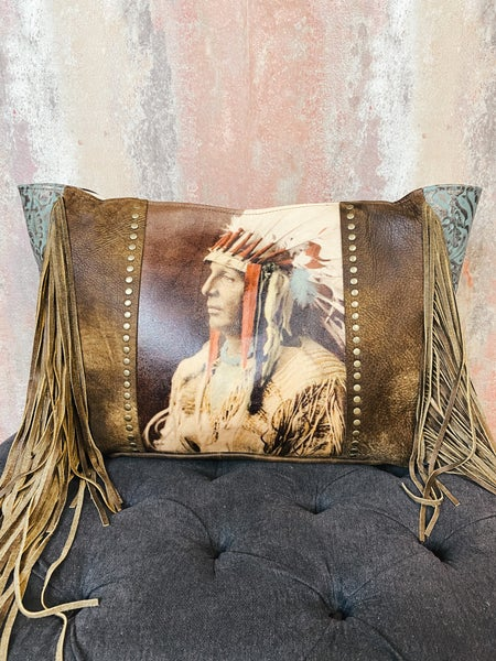 Upcycled Warrior Fringe Bag