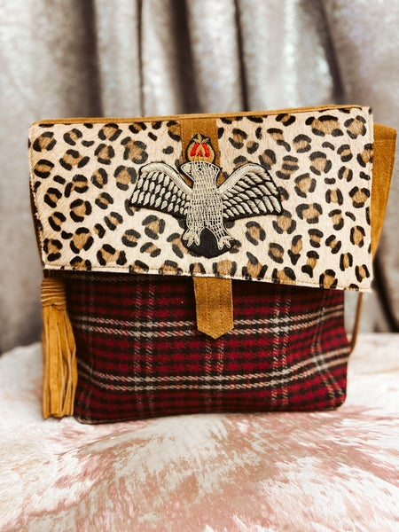 Plaid & Cheetah Bag