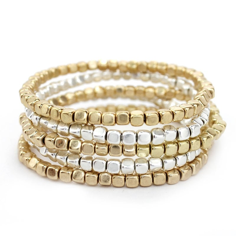 Set of 5 Mixed Nugget Bracelets