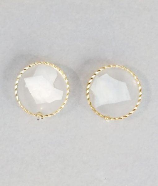 Opaque Stud Earrings