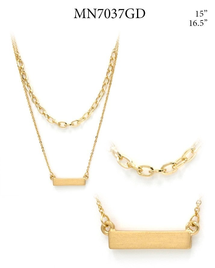 Layered Chain/Bar Necklace
