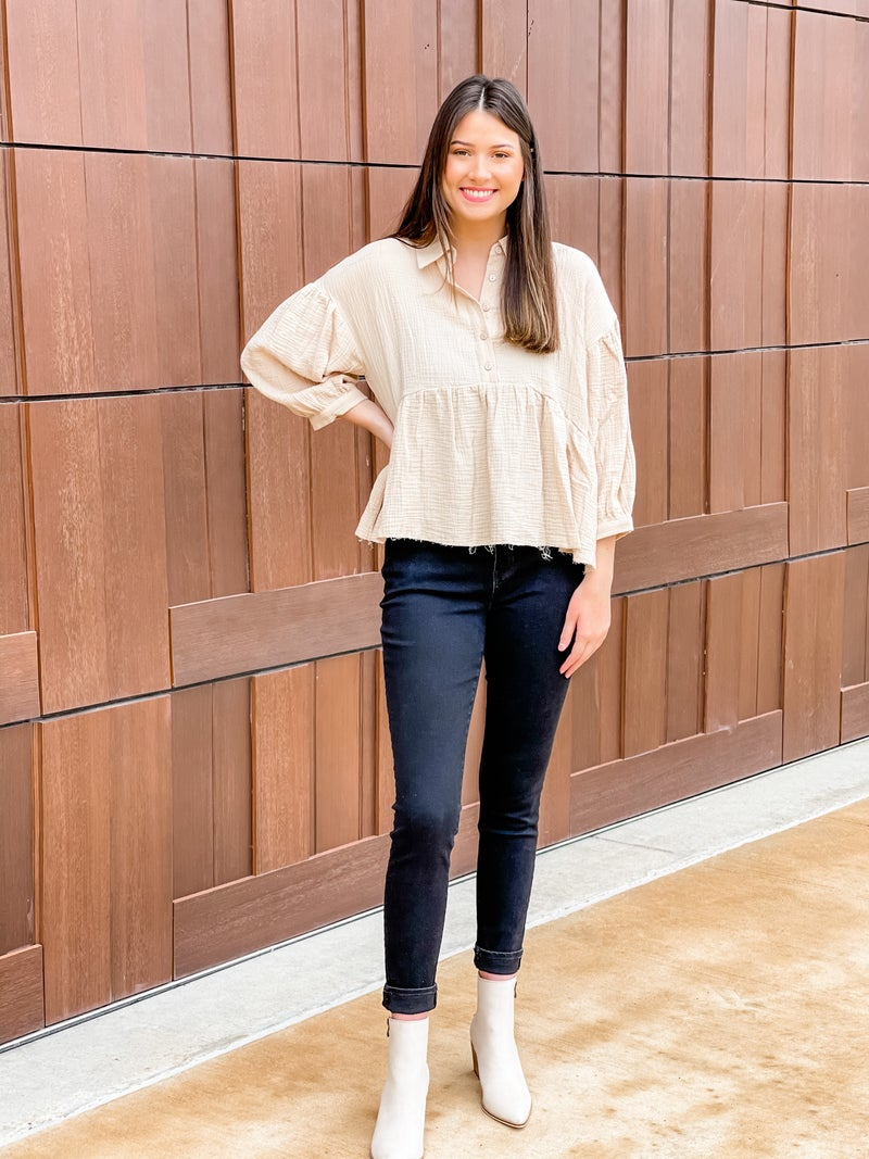 Mid City Linen Top
