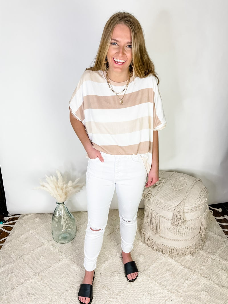 Aniston White Denim
