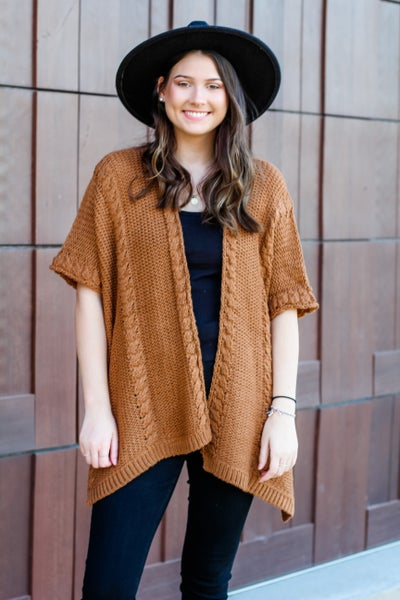 Braided Fall Nights Cardigan