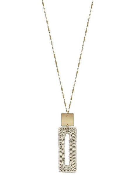 Natural Long Rectangle Necklace