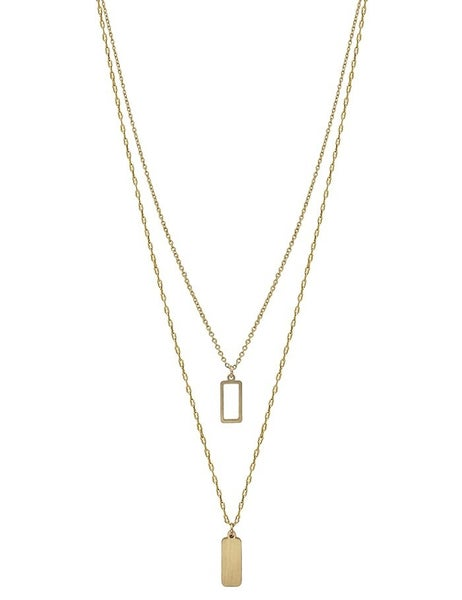Layered Rectangle Necklace