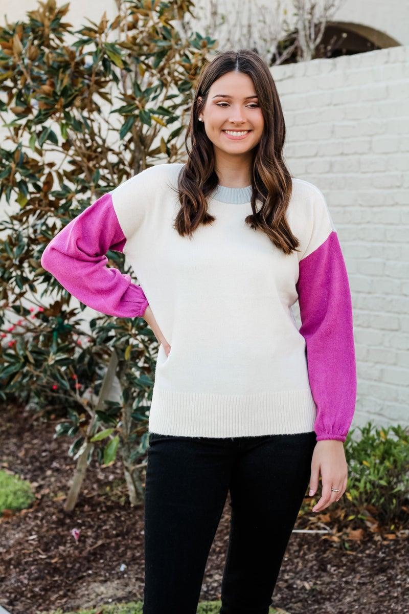 Color block Cutie Sweater